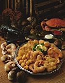Deep fried seafood platter