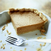 The Last Piece of Squash Pie in a Pie Plate