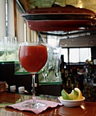 A drink at a bar