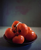 Vine ripened tomatoes in a bowl