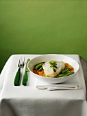 Cod Fillet in Broth with Mixed Vegetables