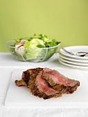 Sliced Steak for Salad