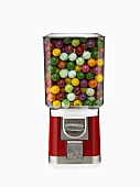 Full Gumball Machine on White Background
