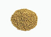 Pile of Fenugreek Seed on White Background