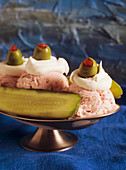 Pickle and Olive Ice Cream Sundae