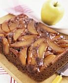 Caramelised chocolate apple cake