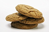 A Stack of Ginger Snap Cookies