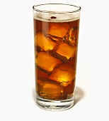 Tall Glass of Iced Tea on a White Background