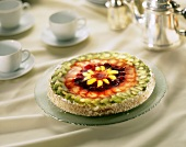 Tart with Mixed Berry and Kiwi Topping