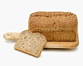 Wholemeal bread: a loaf and a slice