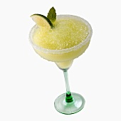 Frozen Margarita in a glass with a salted rim