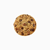 A chocolate chip cookie with pecans