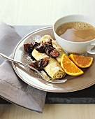 Crepes with Glazed Figs and Coffee