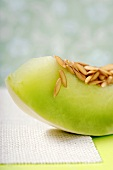 Slice of Honeydew Melon with Seeds