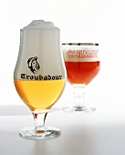 Belgian Beers: Troubadour and Chimay