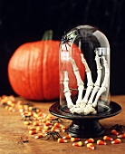 Scary decoration and sweets for Halloween