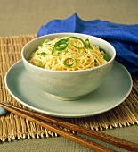 Egg noodles with spring onions (Asia)
