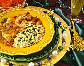 Gumbo with rice for Mardi Gras (New Orleans, USA)