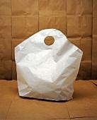White plastic carrier