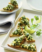 Avocado on toast triangles