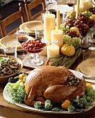 Gebratener Truthahn für Thanksgiving