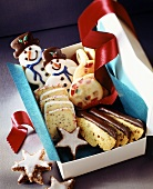 Assorted Christmas biscuits to give as a gift