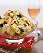 Artichoke and cauliflower salad