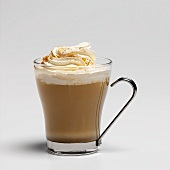 Pumpkin coffee (coffee with cream topping and nutmeg)