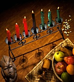 Kwanzaa Decorations with a Fruit Basket