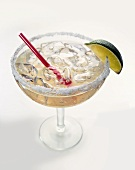 Margarita in glass with salted rim