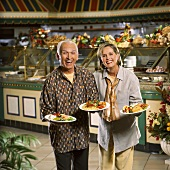 Senior Couple at Buffet