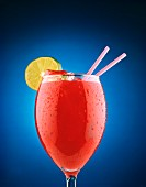 Bloody Mary on blue Background