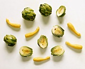 Artichokes and Yellow Italian Summer Squash
