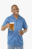 Man alone with Mug of Beer