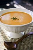 Tomato soup garnished with chives