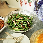 Green beans with shiitake mushrooms (side dish, USA)