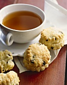 Currant Scones with a Cup of Tea