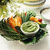 Pesto with Vegetables for Dipping