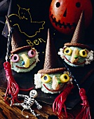 Halloween Ice Cream Witches with Licorice Broomsticks