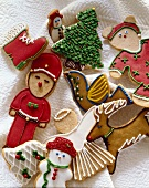 Assorted Frosted Christmas Cookies