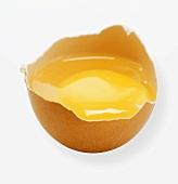 Broken egg in eggshell