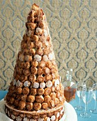 Croquembouche (Wedding cake made of profiteroles, France)