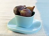 Figs in pale blue bowl