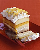 Chilled peach layer cake