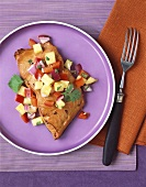 Salmon fillet with pineapple salsa