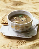 Chicken soup with vegetables and couscous dumplings