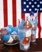 Ice cubes for the 4th of July