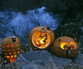 Illuminated pumpkins for Halloween