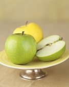 Still life with apples (Granny Smith and Golden Delicious)