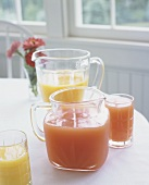 Orange juice and grapefruit juice